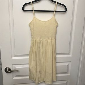 junior's light yellow sundress